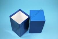 Kleine Geschenkbox blau - hochglanz - 7,6 x 7,6 x 13 cm